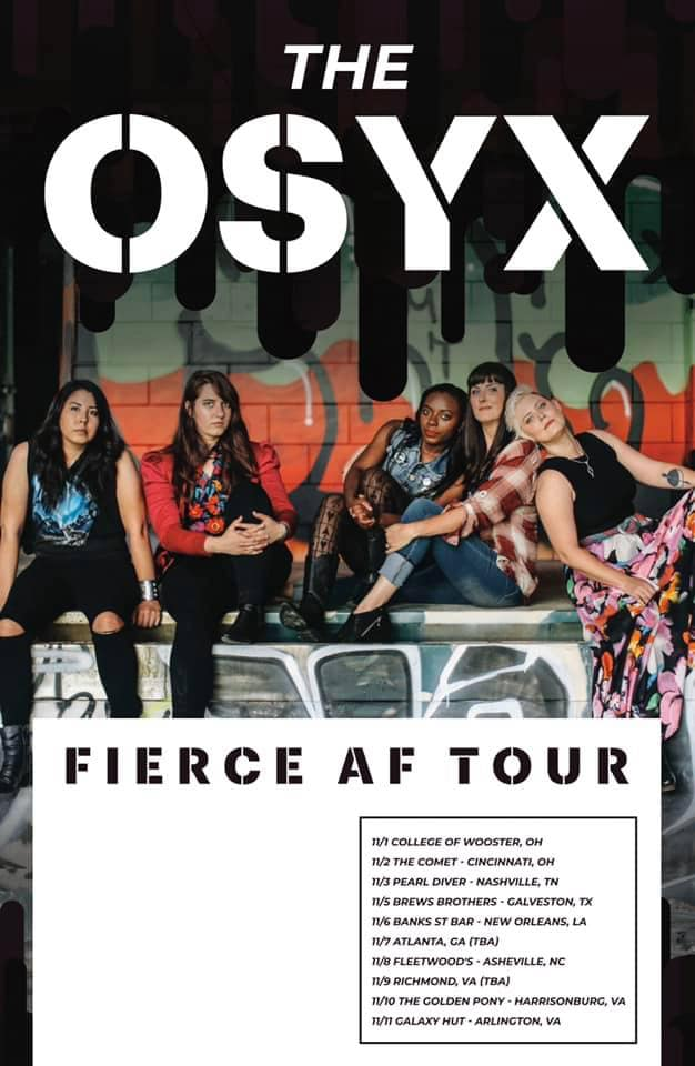 the OSYX's official 2019 tour poster